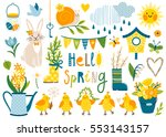Vector Set Of Cute Spring...