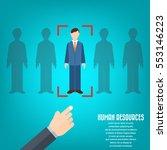human resource   conceptual... | Shutterstock .eps vector #553146223