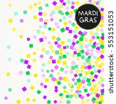 mardi gras confetti background. ... | Shutterstock .eps vector #553151053