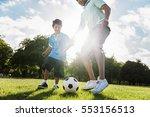 soccer football field father... | Shutterstock . vector #553156513