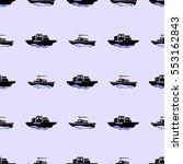 vector sea ships silhouettes... | Shutterstock .eps vector #553162843