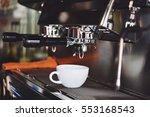 coffee espresso and coffee... | Shutterstock . vector #553168543