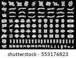 silver banner ribbon label... | Shutterstock .eps vector #553176823