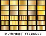 gold gradient background vector ... | Shutterstock .eps vector #553180333