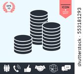 stack of coins icon | Shutterstock .eps vector #553181293