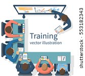 business training concept.... | Shutterstock .eps vector #553182343