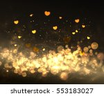 light and hearts. style banner... | Shutterstock .eps vector #553183027