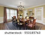 dining room in suburban home... | Shutterstock . vector #553185763