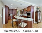 modern kitchen with double...   Shutterstock . vector #553187053