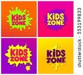 Kids Zone Banner Design Set....