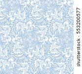 handdrawn ethnic ornamental... | Shutterstock .eps vector #553200577
