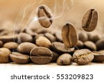 flying fresh coffee beans as a...   Shutterstock . vector #553209823