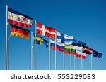waving flags of baltic   Shutterstock . vector #553229083