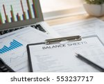 accounting concept. balance... | Shutterstock . vector #553237717