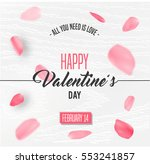 happy valentines day card with... | Shutterstock .eps vector #553241857
