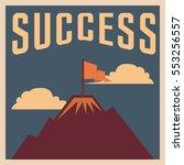 success poster motivation in... | Shutterstock .eps vector #553256557