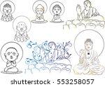 buddha statues   Shutterstock .eps vector #553258057