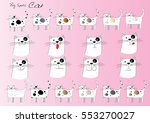 cat cartoon set   Shutterstock .eps vector #553270027