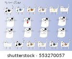 cat cartoon set   Shutterstock .eps vector #553270057
