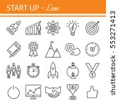start up project  outline web... | Shutterstock . vector #553271413