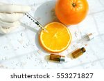 natural vitamin c beauty... | Shutterstock . vector #553271827