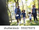 exercise activity family... | Shutterstock . vector #553275373