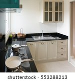 beautiful room interior with... | Shutterstock . vector #553288213