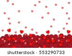 love background with red heart... | Shutterstock . vector #553290733