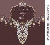 indian wedding invitation card   Shutterstock .eps vector #553292443