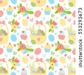 vector seamless pattern with... | Shutterstock .eps vector #553293673