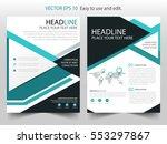 green triangle brochure annual... | Shutterstock .eps vector #553297867