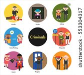 criminals and victims  police... | Shutterstock .eps vector #553304317