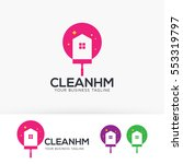 clean home  symbol  service ... | Shutterstock .eps vector #553319797