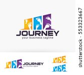 journey  adventure  travel ... | Shutterstock .eps vector #553323667