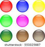 multicolored marbles | Shutterstock .eps vector #553325887
