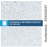 database and network icon set... | Shutterstock .eps vector #553332037