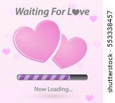 pink heart for valentine day.... | Shutterstock .eps vector #553338457
