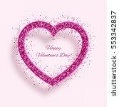 vector red heart   happy... | Shutterstock .eps vector #553342837