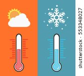 flat design of thermometer...