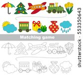 toy set to find the pairs  the... | Shutterstock .eps vector #553350643