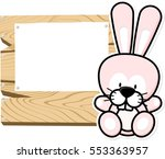 illustration of cute baby bunny ... | Shutterstock .eps vector #553363957