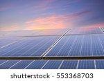 solar energy panels closeup...   Shutterstock . vector #553368703