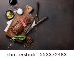 Grilled Ribeye Beef Steak With...