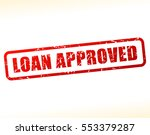 illustration of loan approved... | Shutterstock .eps vector #553379287