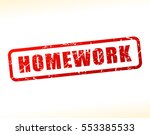 illustration of homework text... | Shutterstock .eps vector #553385533