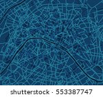 blue scheme of the paris ... | Shutterstock .eps vector #553387747