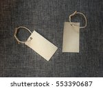 Blank Label Tag On Abstract...