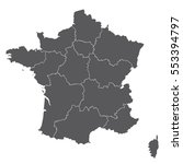 map of france | Shutterstock .eps vector #553394797
