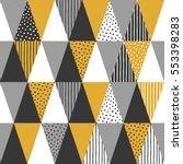 geometric background. vector... | Shutterstock .eps vector #553398283