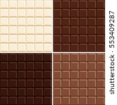 seamless chocolate bar pattern... | Shutterstock .eps vector #553409287